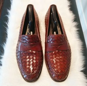 Braganno by Cole Haan Basketweave Penny Loafers